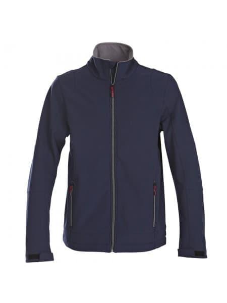 Куртка софтшелл мужская TRIAL, темно-синяя
