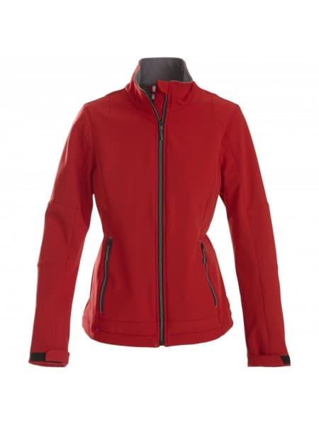 Куртка софтшелл женская TRIAL LADY, красная