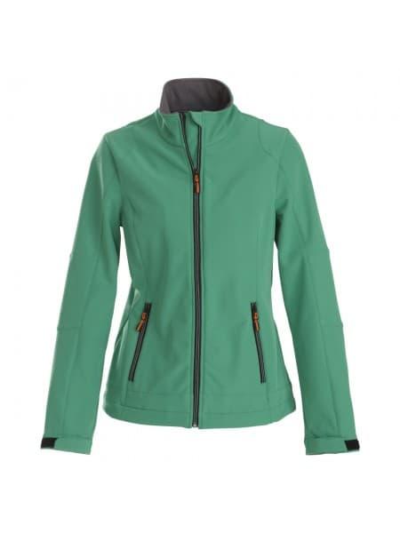 Куртка софтшелл женская TRIAL LADY, зеленая