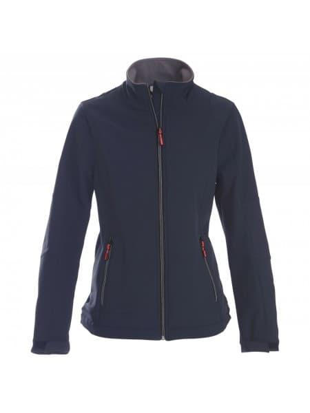 Куртка софтшелл женская TRIAL LADY, темно-синяя