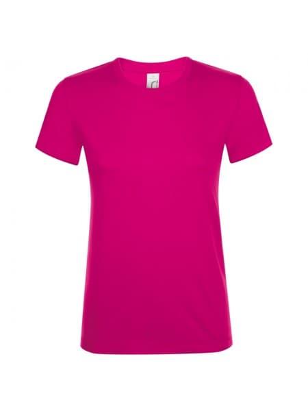 Футболка женская REGENT WOMEN, ярко-розовая (фуксия)