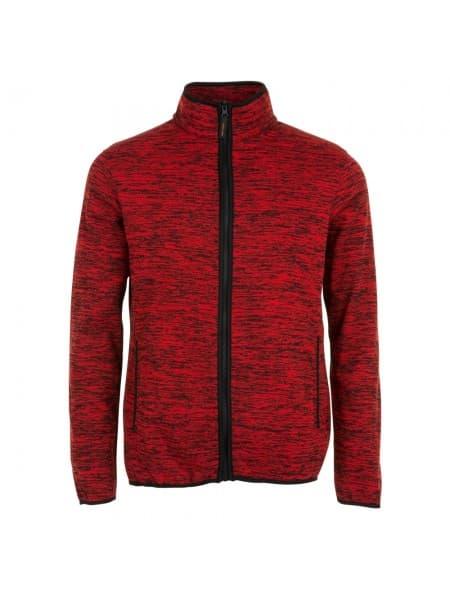 Куртка флисовая TURBO, красная с черным
