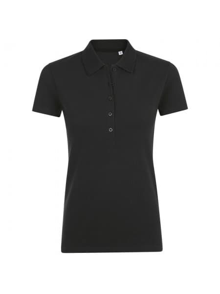 Рубашка поло женская PHOENIX WOMEN, черная