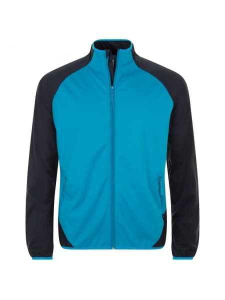 Куртка софтшелл мужская ROLLINGS MEN, бирюзовая с темно-синим