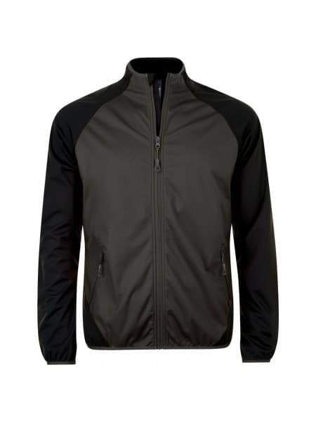 Куртка софтшелл мужская ROLLINGS MEN, темно-серая с черным