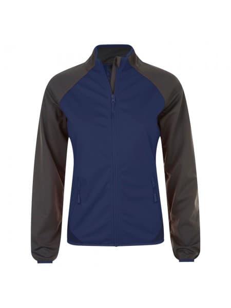 Куртка софтшелл женская ROLLINGS WOMEN, темно-синяя с серый