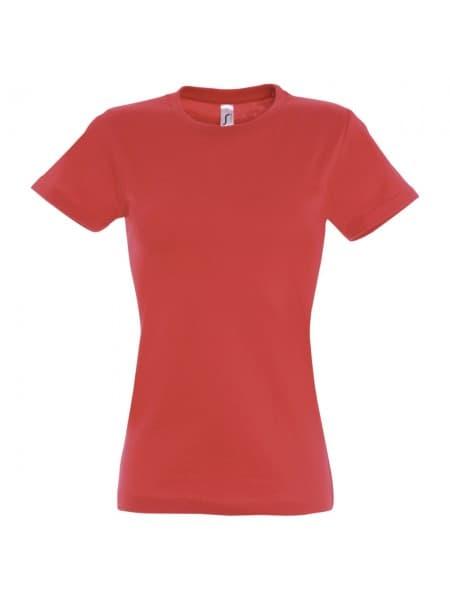 Футболка женская Imperial Women 190, красная (гибискус)