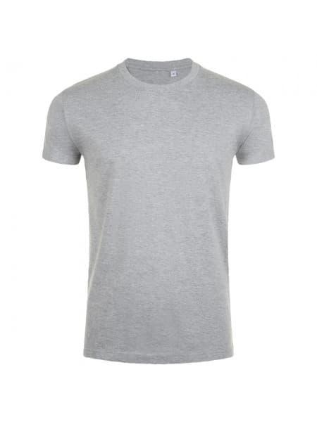 Футболка мужская приталенная IMPERIAL FIT 190, серый меланж