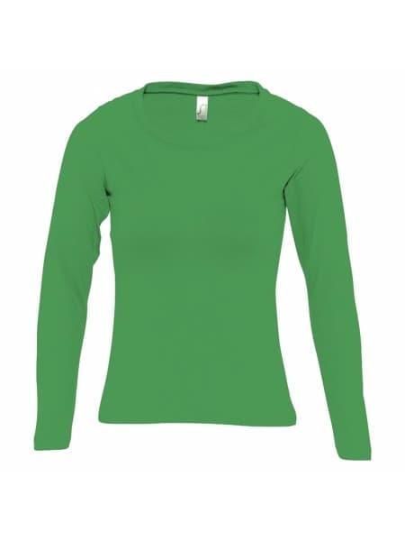 Футболка женская с длинным рукавом MAJESTIC 150, ярко-зеленая