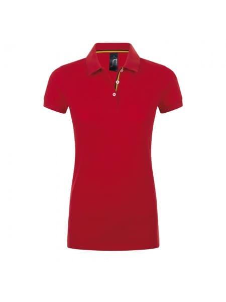 Рубашка поло PATRIOT WOMEN, красная с черным