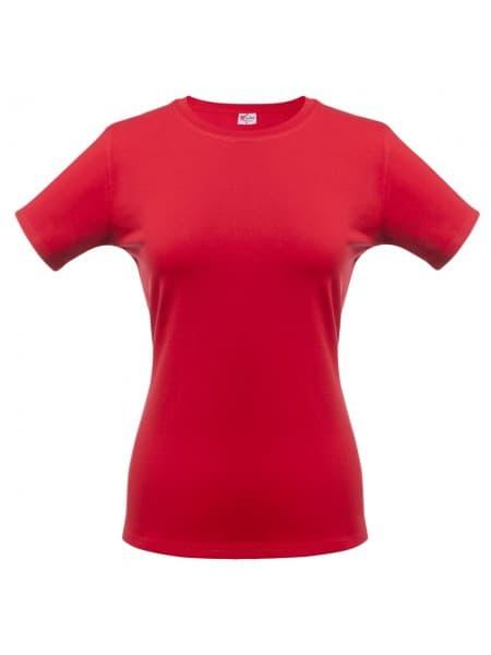 Футболка женская T-bolka Stretch Lady, темно-красная