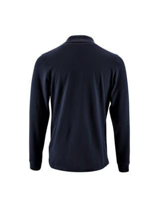 Рубашка поло мужская с длинным рукавом PERFECT LSL MEN, темно-синяя