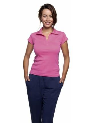 Рубашка поло женская без пуговиц PRETTY 220, белая
