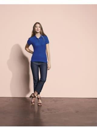 Рубашка поло женская PEOPLE 210, серый меланж