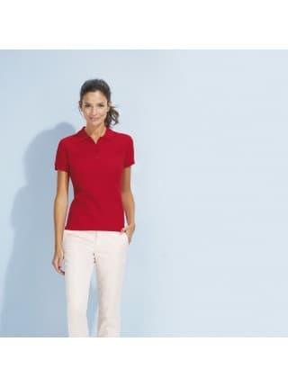 Рубашка поло женская PASSION 170, ярко-бирюзовая