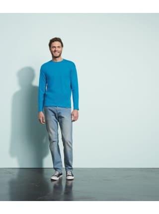 Футболка мужская с длинным рукавом MONARCH, голубая
