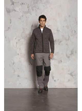 Куртка флисовая TURBO, темно-серая с черным